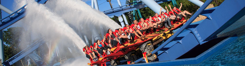Парк Busch Gardens Williamsburg в Вирджинии